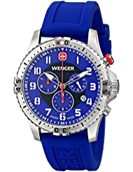 Wenger Mens 77057 Squadron Chrono Analog Display Swiss Quartz Blue Watch
