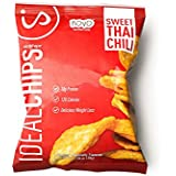 IdealShape Chips, IdealChips, Sweet Thai Chili, 10g Protein, 120 Cals, Low Carb, Weight Loss, Baked, 1.06oz Bag, 7 Count, Packaging May Vary