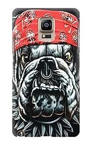 S0100 Bulldog Punk Rock Biker Case Cover For Samsung Galaxy Note 4