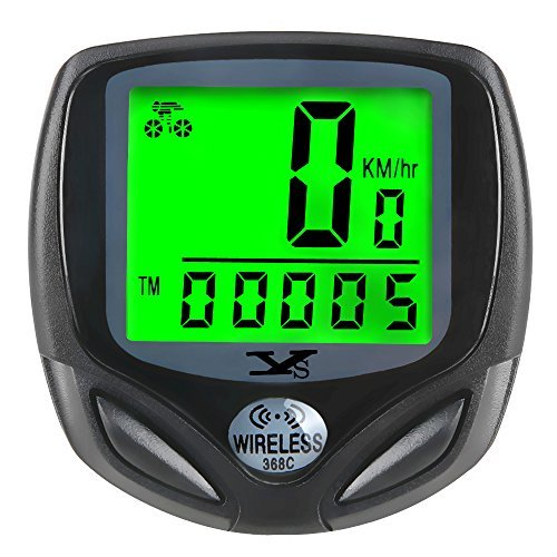 Bicycle Speedometer and Odometer Wireless Waterproof Cycle Bike Computer with LCD Display & Multi-Functions by YS
