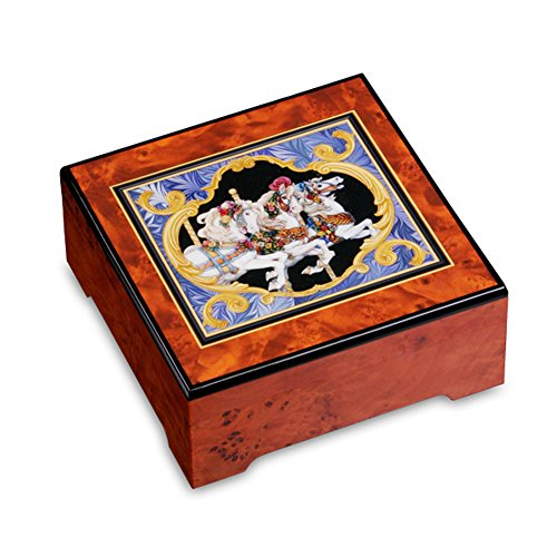 Encore! Carousel Horse Jewelry Box by The San Francisco Music Box (Encore Velour)