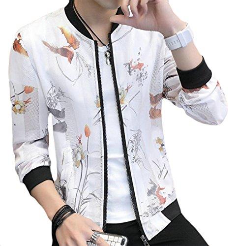 XXBlosom Men's UV-Protect Overcoat Casual Quick Drying Print