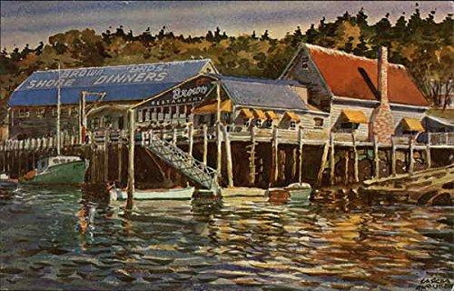 Bros Dinner (Brown Bros. Shore Dinner Restaurant Boothbay Harbor, Maine Original Vintage Postcard)