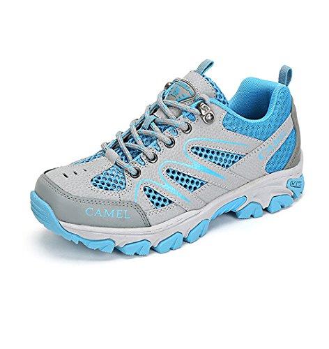 Kamel Utomhus Kvinnor Slip-promenadskor Färg Blå Storlek 35 M Eu