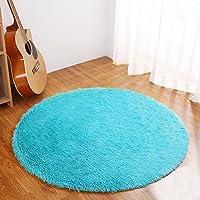 YJ.GWL Ultra Soft Round Rugs for Bedroom Anti-slip Shaggy...