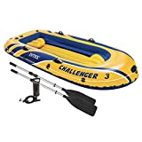 Intex 68370EP 116'' L X 54'' W X 17'' H Challenger Lake Boat Set
