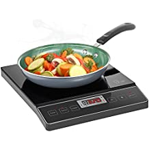 Chef's Star 1800W Portable Induction Cooktop Countertop Burner - 120V/60Hz - Black