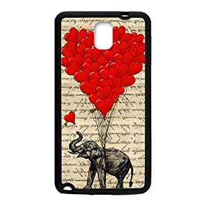 Elephant with Red heart shape balloon Cell Phone Case for Samsung Galaxy Note3