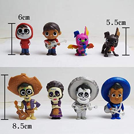 8pcs//set Coco Movie Miguel HECTOR Dante Imelda Pepita Action Figure Kids Toys