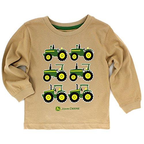 John Deere Baby Toddler Long Sleeve Tee (12 Months, Tan Tractors) (Tractors Tan)
