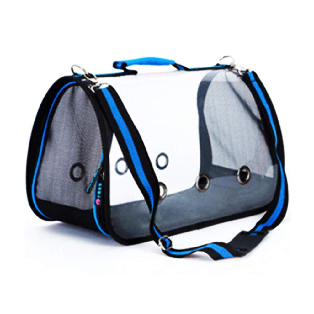 bluee Small bluee Small Pet Handbag Messenger Bag Transparent Outdoor Pet Carrier Breathable for Cat, Rabbit and Other Small Medium Sized Pets Cat Travel Bag