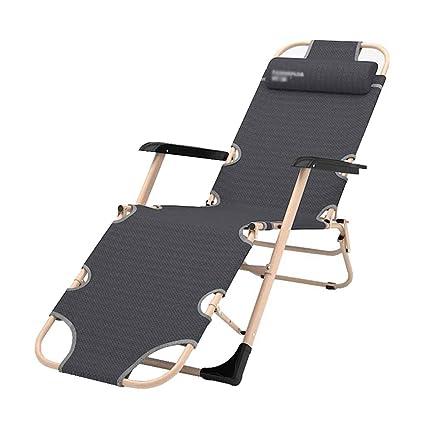 Amazon.com: Silla reclinable plegable con reposacabezas ...