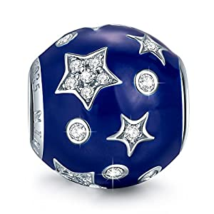 """NinaQueen """"Starry Dream"""" 925 Sterling Silver Star Bead Charms"""