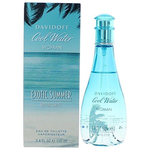 Davidoff Cool Water Exotic Summer for Women Eau de Toilette Spray, Limited Edition, 3.4 Ounce