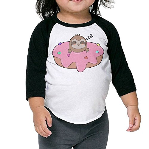 SH-rong Donut Sloth Toddler Essential T-shirt Size2 Toddler