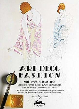 Coloring Book For Fashion : Amazon.com: pepin press art deco fashion : artists