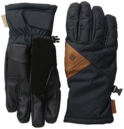 Columbia Women's St. Anthony Gloves, Black Crossdye/Black Melange, Large