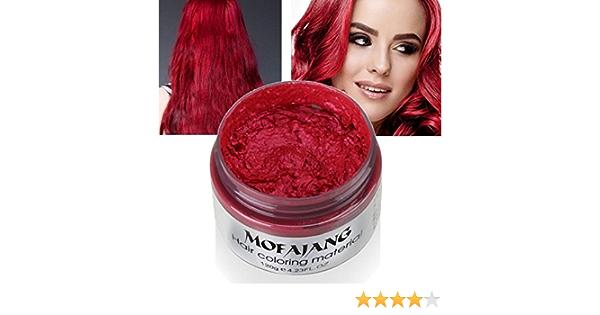 Pasta de cera para el pelo, de una sola vez, 7 colores disponibles, color azul, burdeos, gris, verde, cera para teñir el cabello