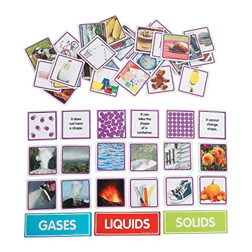 Fun Express - States Of Matter Sorting Magnets - Educational - Teaching Aids - Science - 53 Pieces
