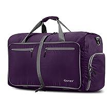 Gonex 60L Foldable Travel Duffel Bag for Luggage, Gym, Sport Water & Tear Resistant