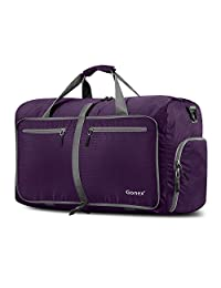Gonex 60L Foldable Travel Duffel Bag for Luggage, Gym, Sport Water & Tear Resistant