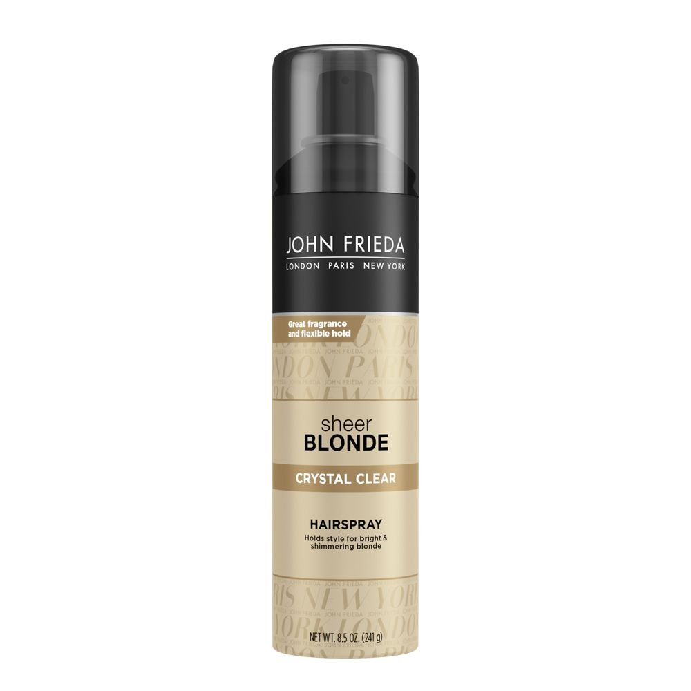 John Frieda Sheer Blonde Crystal Clear Hairspray, 8.5 Ounces