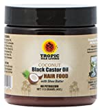 Coconut Oil for African American Hair Tropic Isle Living Coconut Jamaican Black Castor Oil Hair Food, 4 Ounce
