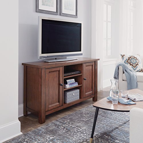 Home Styles 5412-10 Tahoe TV Entertainment Stand Credenza, Aged Maple Contemporary Maple Entertainment Center