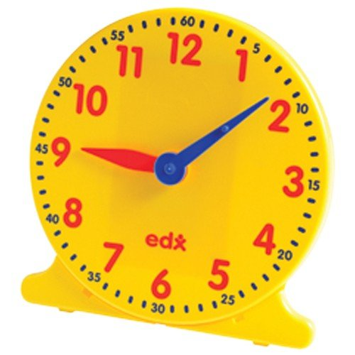 12'' diam. Geared Teaching Clock with Large 12 Hour Markings