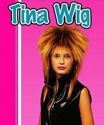 8fd6e3e1f0 Tina Turner Gold   Black 2 Tone Wig Rock Chick Rocker Messy Fancy Dress   Amazon.co.uk  Clothing