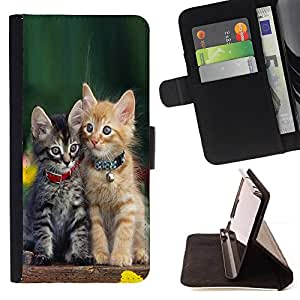 For Samsung GALAXY Note 5/N9200 Cute Baby Kitten Cat Green Furry Pet Style PU Leather Case Wallet Flip Stand Flap Closure Cover