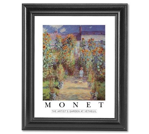 Claude Monet Artist Garden At Vetheuil Wall Picture Framed Art Print