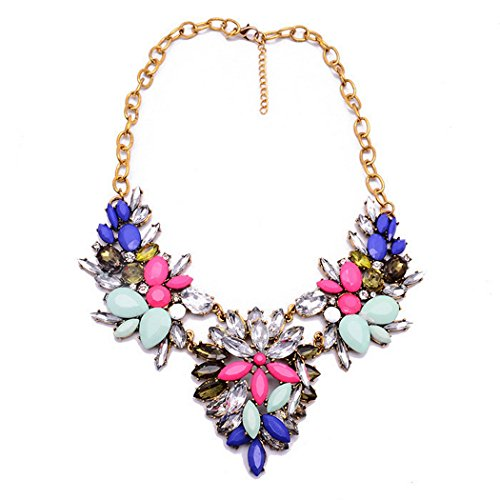 Mother Goose Costume Plus Size (PSNECK design Costume Flower Statement Necklaces Pendants Choker Collar Necklace)