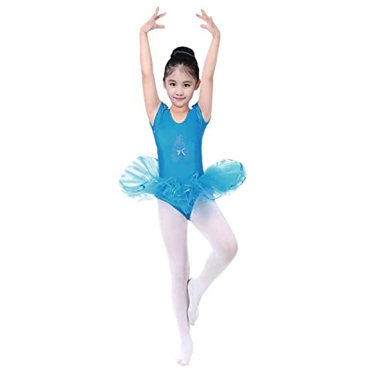 27245667efe4 Amazon.com  Kollmert Toddler Girls Gauze Leotards Bodysuit Dancewear ...