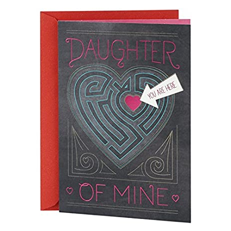 Hallmark Mahogany Valentineu0027s Day Greeting Card For Daughter (Heart Maze)