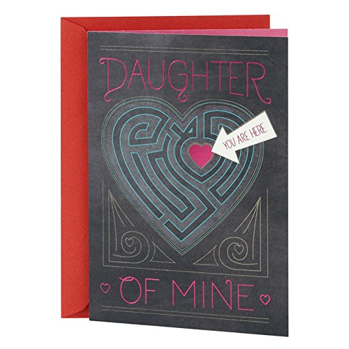 Hallmark Mahogany Valentine's Day Greeting Card for Daughter (Heart Maze)