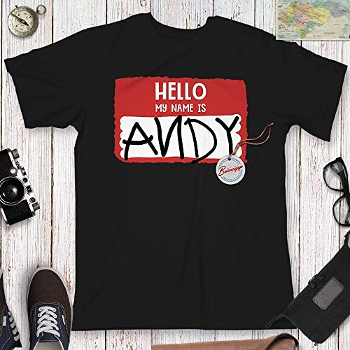 Andy Name T Shirt Hello Halloween Outfit Matching Pajamas Customized Handmade Hoodie/Sweater/Long Sleeve/Tank Top/Premium T-shirt]()