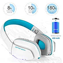 WE50 Bluetooth Wireless Gaming Headset Overhead Headphones V4.1 with Mic for Smartphones Computers PS4 Xbox One PC by WEILIANTE