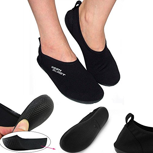 Shusox barefoot water shoes cushion slipper slip-on flexible flat for yoga beach exercise (XXL - M(8.5-9.5) / W(9.5-10.5)) (Best Minimalist Running Shoes compare prices)