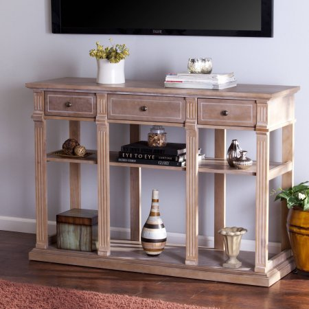 Southern Enterprises Farmhouse Console Table, Weathered Natural