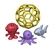 BeginAgain - Bathtub Ball Shark Tank, Great for Toddlers' Bathtime Adventures, Eco Friendly Natural Rubber Bathtub Toy (For Kids 2 and Up)