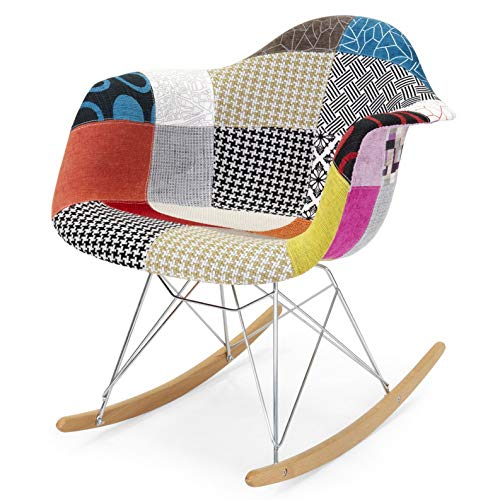 - Hebel BCP Mid-Century Modern Eames Style Accent Rocking Chair w/Armrests | Model CCNTCHR - 530 |