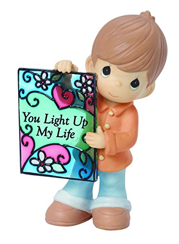 (Precious Moments,  You Light Up My Life Bisque Porcelain Figurine, 154056)
