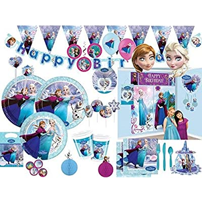 Anagram International HX Frozen Happy Birthday Party Balloons, Multicolor: Anagram: Kitchen & Dining