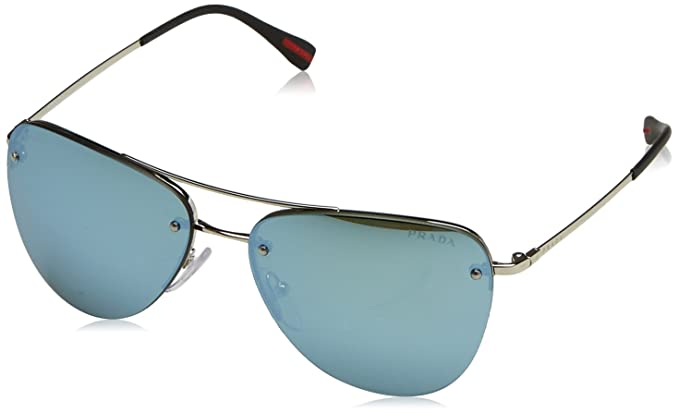 503de78cb6a83 ... buy prada linea rossa mens ps 52rs sunglasses silver light green mirror  green 56mm 47679 f3a1a