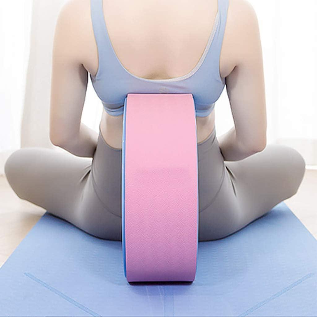 Equipos De Yoga Rueda De Dharma Yoga Pilates C/írculo Accesorio Estiramiento Y La Mejora De Curva hacia Atr/ás,Azul Yoga C/írculo Curva hacia Atr/ás Ronda De Yoga