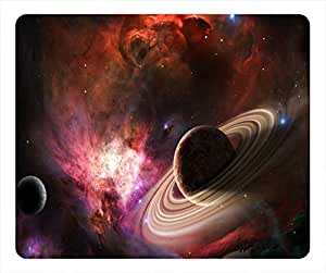 Planet Design Rectangular Mouse Pad Saturn by mcsharks
