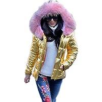 ENEN Abrigos con Capucha para Mujer, Moda Parka Chaqueta con Cuello de Piel Sintética Invierno Caliente Talla Grande…