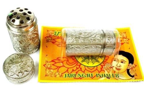 12 Piece Jarungjit Ancient Nasal Inhaler Herbal Relief Dizziness Faint Sinus