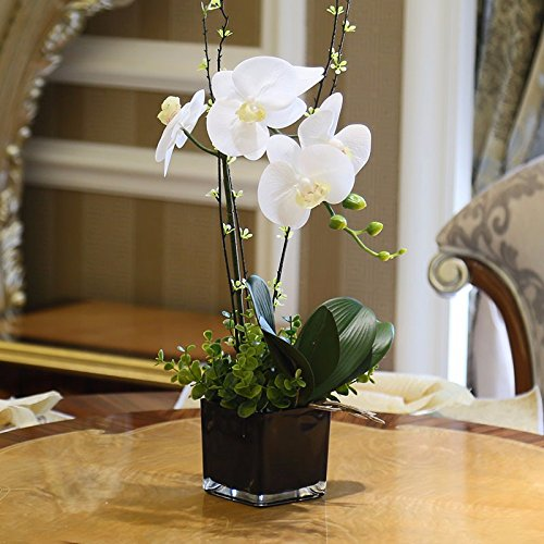 Situmi Artificial Fake Flowers The Orchid Glass Vases Modern White Home Accessories Artificial Flower SituMi
